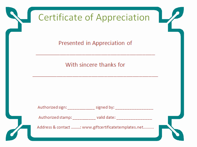Border for Certificate Of Appreciation Elegant 7 Blank Border Templates
