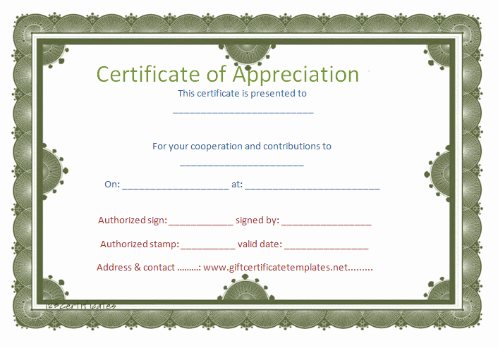 Border for Certificate Of Appreciation Elegant Certificate Templates without Borders