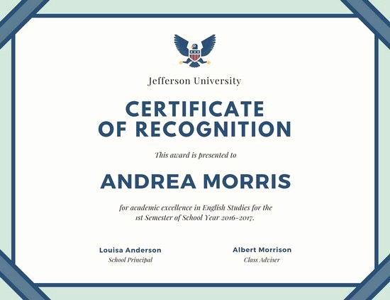Border for Certificate Of Appreciation Elegant Cream and Teal Border Certificate Of Recognition