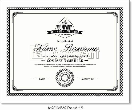 Border for Certificate Of Appreciation Elegant Free Art Print Of Retro Frame Certificate Of Appreciation