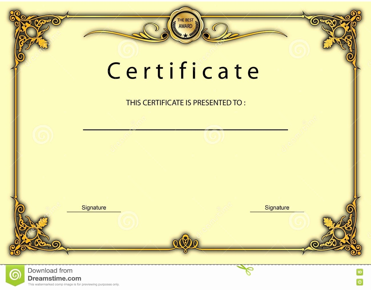 Border for Certificate Of Appreciation Luxury Certificate Appreciation Border Design