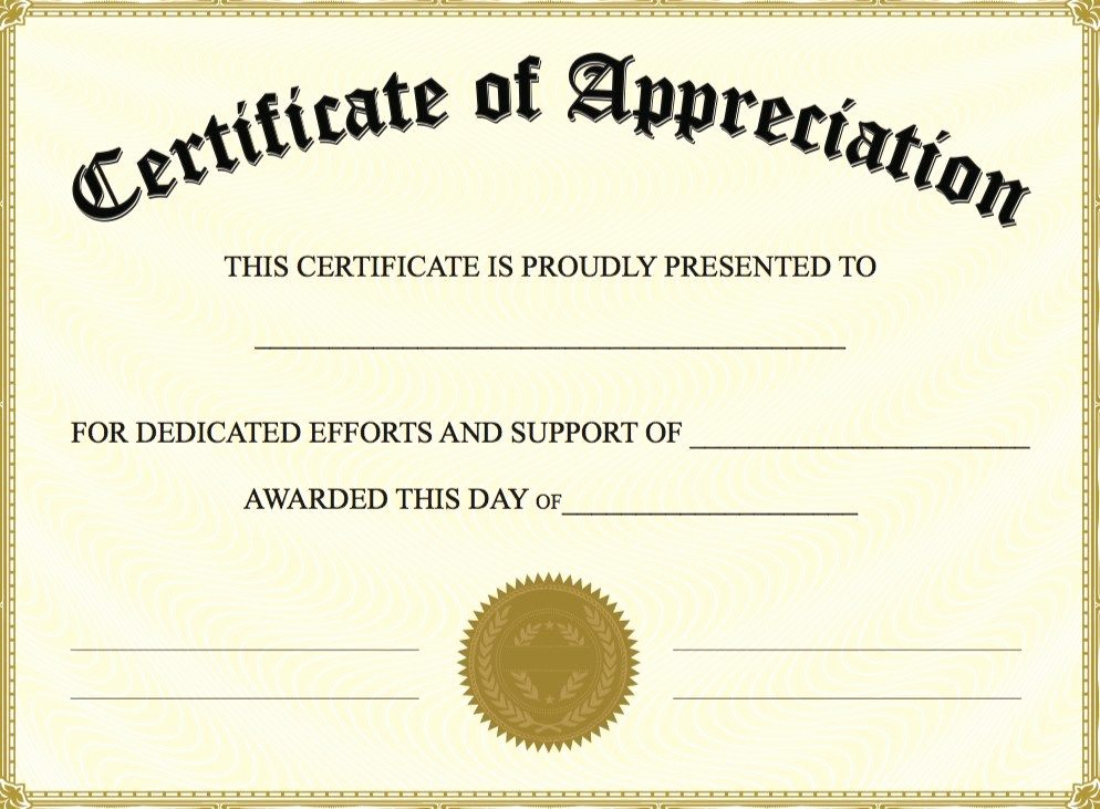 Border for Certificate Of Appreciation Luxury Certificate Appreciation Template the Certificate Has