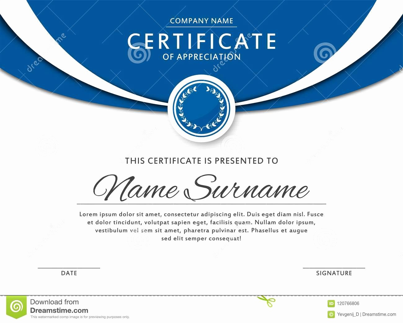 Border for Certificate Of Appreciation New Azul Diploma Frame Border Blue