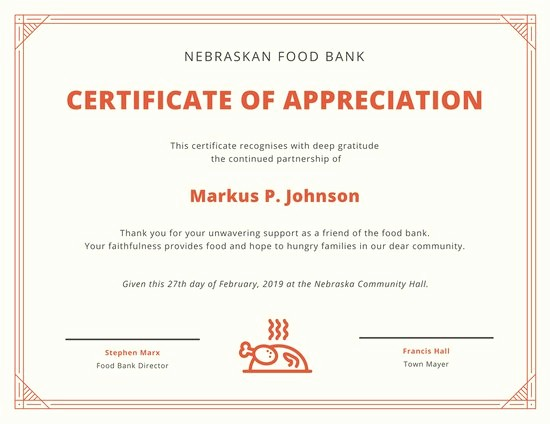 Border for Certificate Of Appreciation Unique Border and Icon Certificate Of Appreciation Templates by