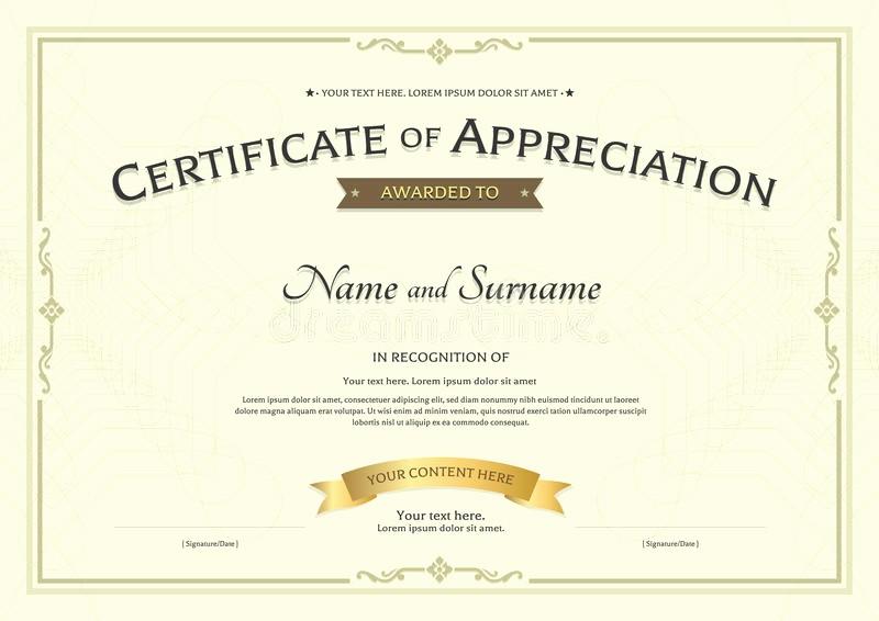 Border for Certificate Of Appreciation Unique Certificate Appreciation Template with Award Ribbon
