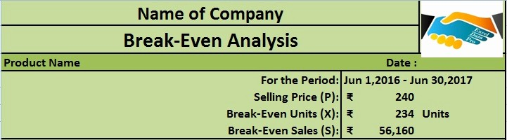 Break even Analysis formula Excel Awesome Download Break even Analysis Excel Template Exceldatapro