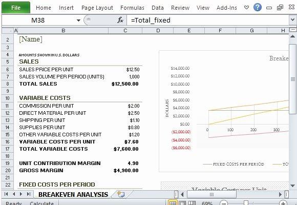Break even Analysis formula Excel Unique How to Easily Create Breakeven Analysis In Excel