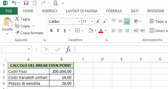 Break even Point In Excel Fresh Realizzare Un Grafico Break even Point Bep Con Excel
