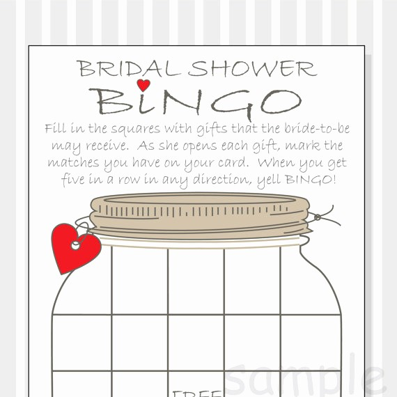 Bridal Shower Gift List Sheet Best Of Bridal Shower Bingo Printable Cards Gift Bingo Rustic
