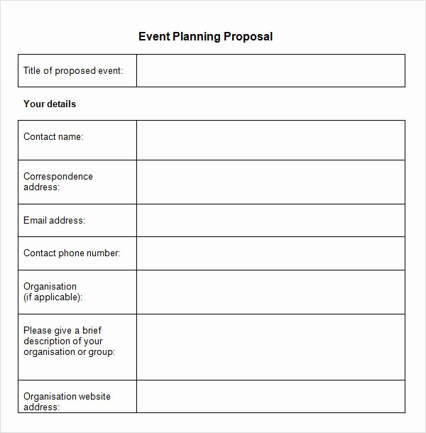 Budget Proposal Sample for event Beautiful 7 event Brief Tips and Examples Pdf