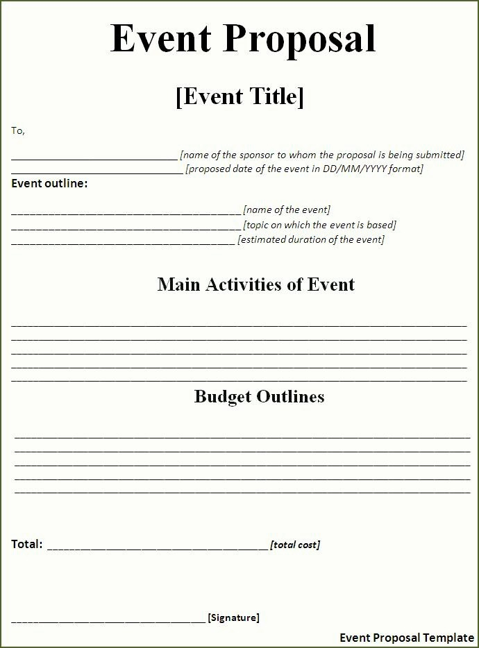 Budget Proposal Sample for event Beautiful Craft the Perfect event Proposal Template now