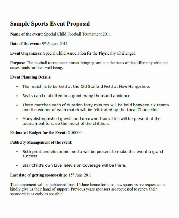 Budget Proposal Sample for event Fresh 15 event Proposal Letters Samples & Templates