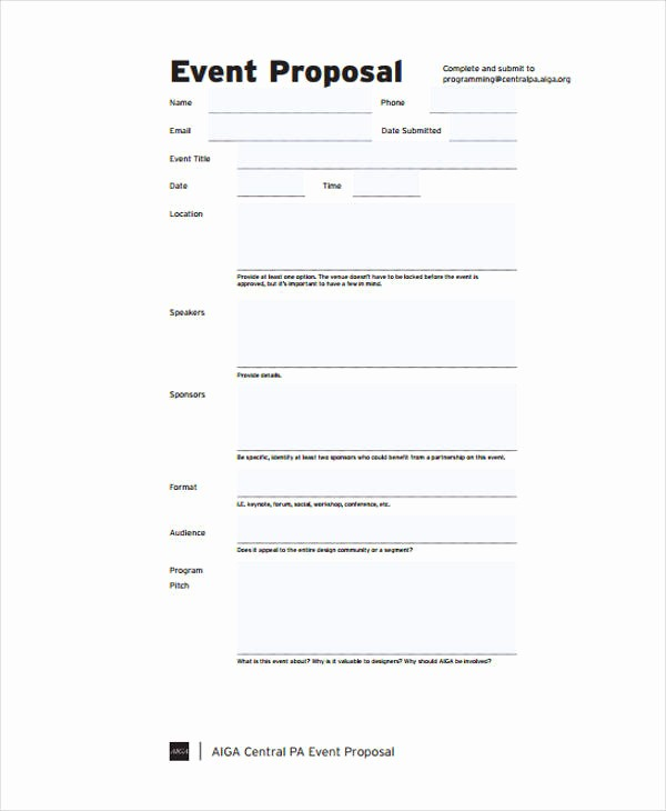 Budget Proposal Sample for event Inspirational 43 event Proposals In Pdf