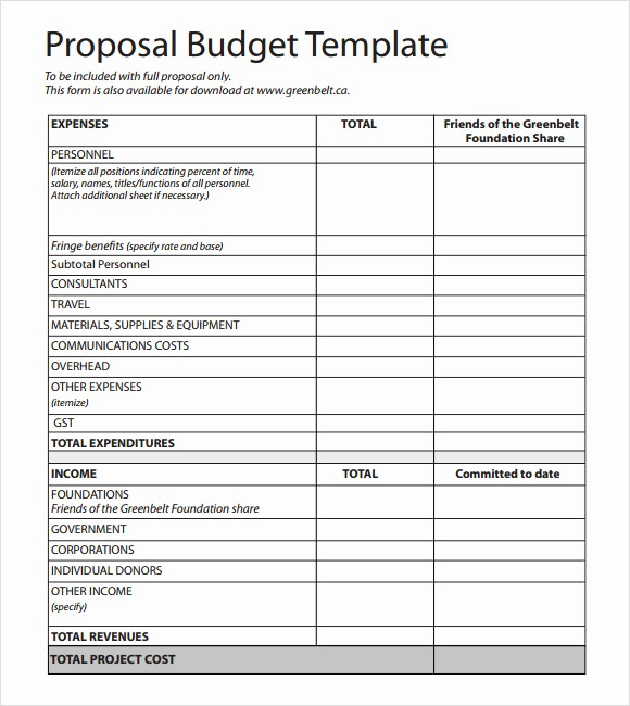 Budget Proposal Sample for event Lovely 17 Sample Bud Proposal Templates to Download