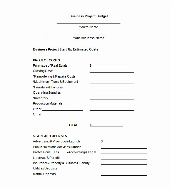 Budget Proposal Sample for event New Bud Proposal Templates 18 Free Word Pdf format