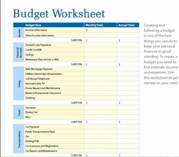 Budgeting Worksheet for College Students Fresh 7 Free Printable Bud Worksheets