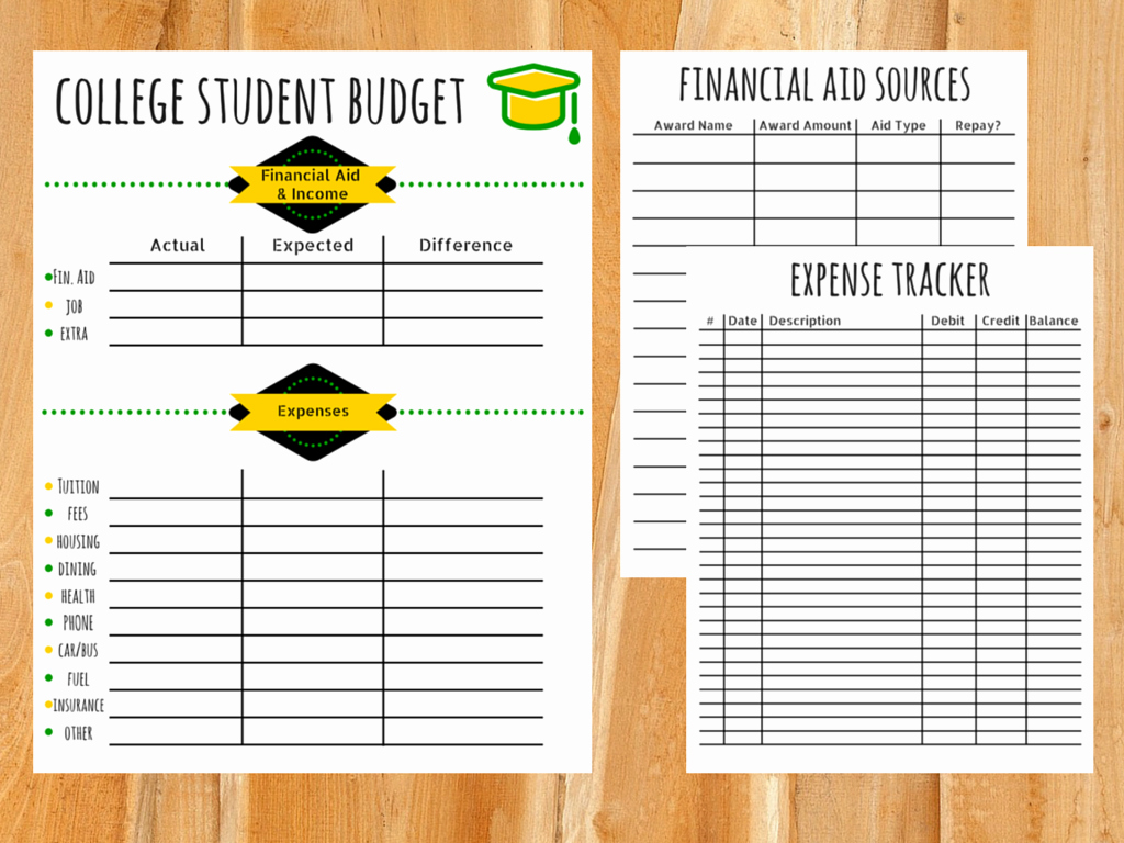 Budgeting Worksheet for College Students Inspirational College Bud Template Free Printable for Students