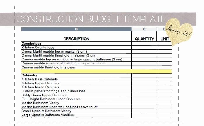 Building A House Budget Sheet Unique House Construction House Construction Excel Spreadsheet