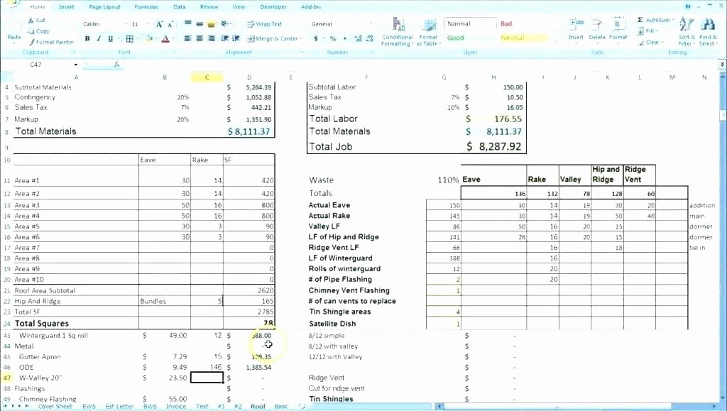 Building A House Cost Spreadsheet Unique Building Costing Template Custom Home Construction Bud