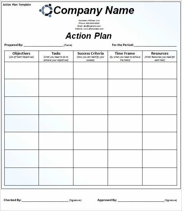 Business Action Plan Template Word Awesome 85 Action Plan Templates Word Excel Pdf