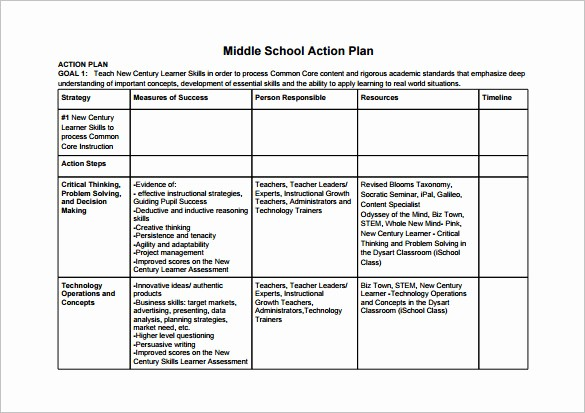 Business Action Plan Template Word Elegant 11 School Action Plan Templates Word Pdf