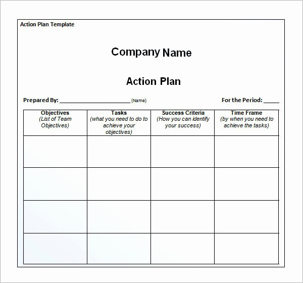 Business Action Plan Template Word Elegant 12 Action Plan Templates