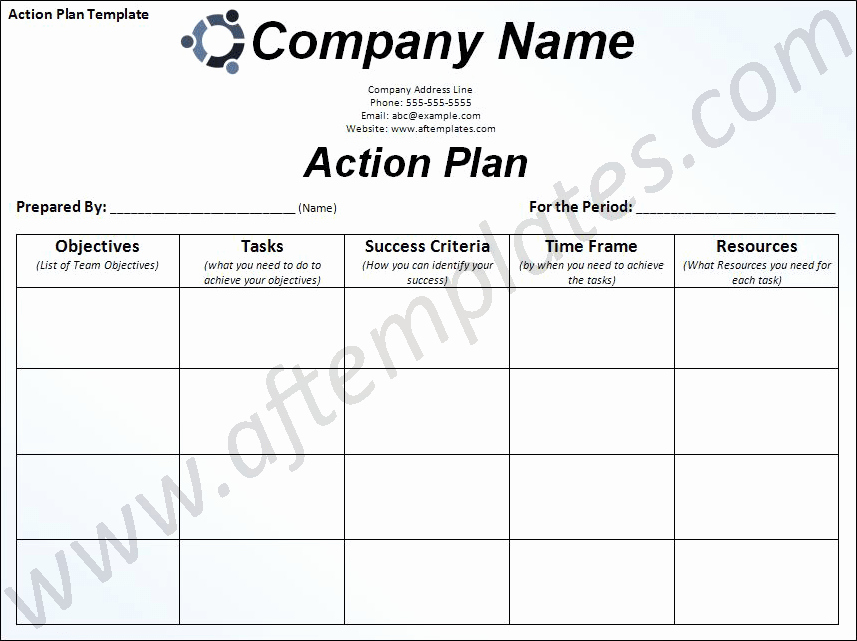 Business Action Plan Template Word Fresh Action Plan Template