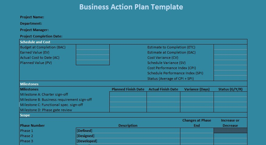 Business Action Plan Template Word Fresh Business Action Plan Template Excel