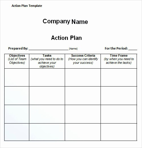 Business Action Plan Template Word Inspirational 27 Plan Templates