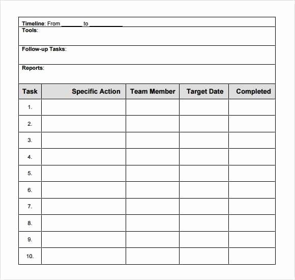 Business Action Plan Template Word Inspirational 8 Action Plan Templates Word Excel Pdf formats