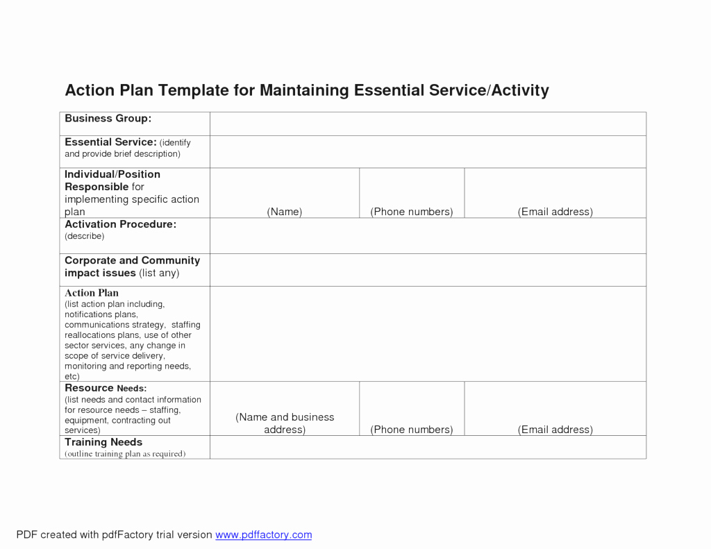 Business Action Plan Template Word Luxury Business Action Plan Template Mughals