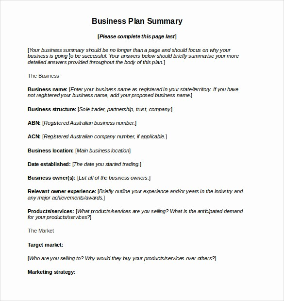 Business Action Plan Template Word New 11 Sample Business Action Plans