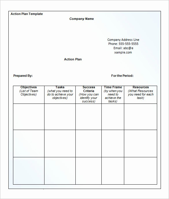 Business Action Plan Template Word New 14 Business Action Plan Template Doc Pdf