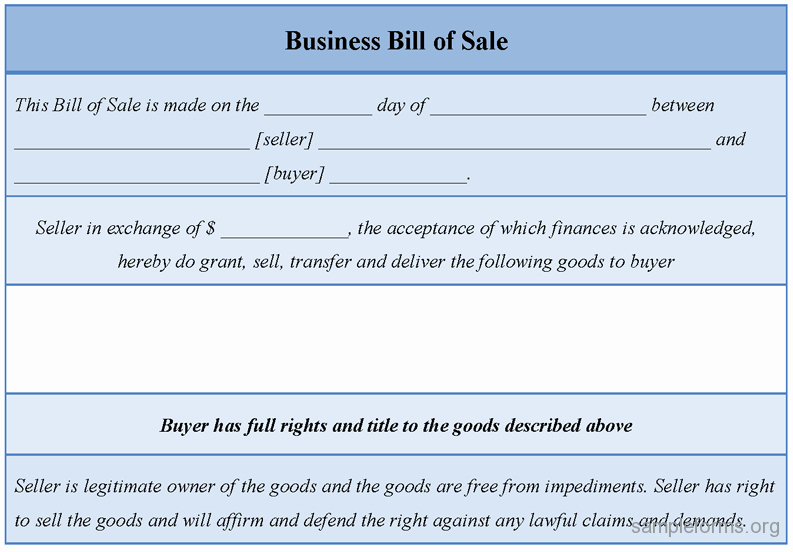 Business Bill Of Sale Example Beautiful Car Bill Sale Sample Free Printable forms