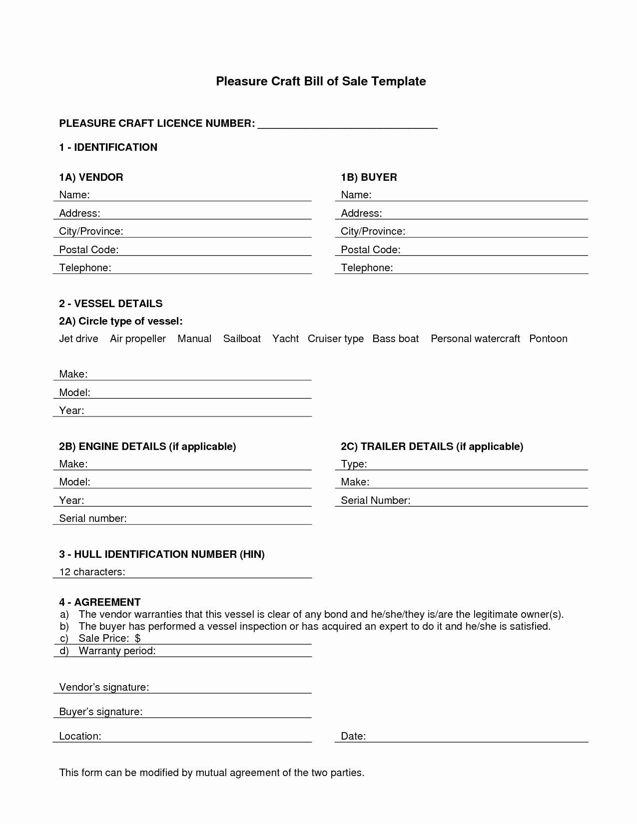 Business Bill Of Sale Example Best Of 45 Fee Printable Bill Sale Templates Car Boat Gun