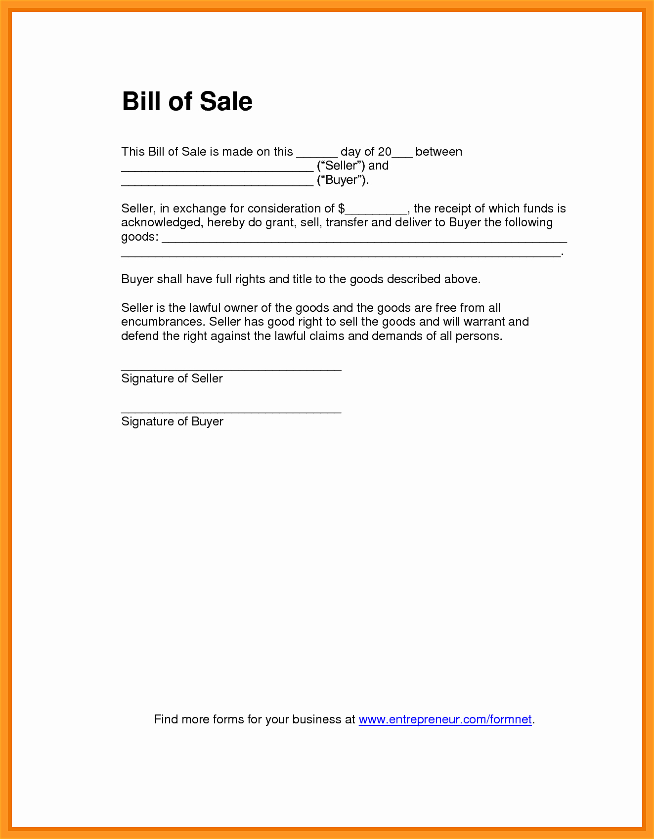 Business Bill Of Sale Example Elegant Bill Sale Word Mughals