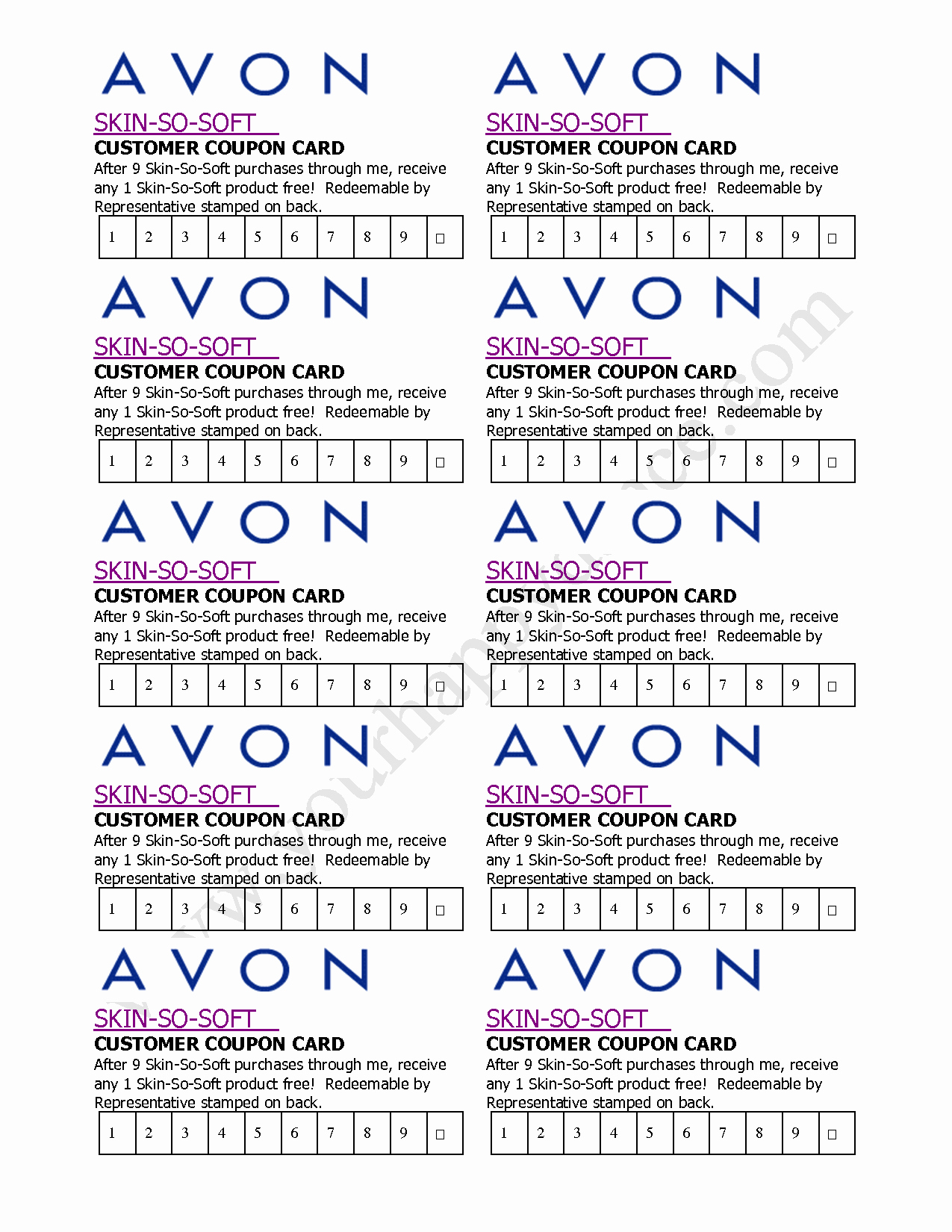 Business Card Template Free Printable Awesome Avon Business Card Template Free Printable Avon Business