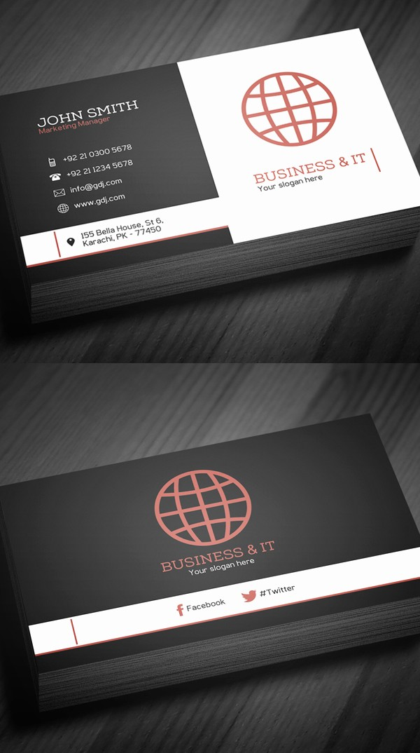 Business Card Template Free Printable Awesome Free Business Cards Psd Templates Print Ready Design