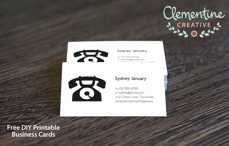Business Card Template Free Printable Beautiful Free Diy Printable Business Card Template