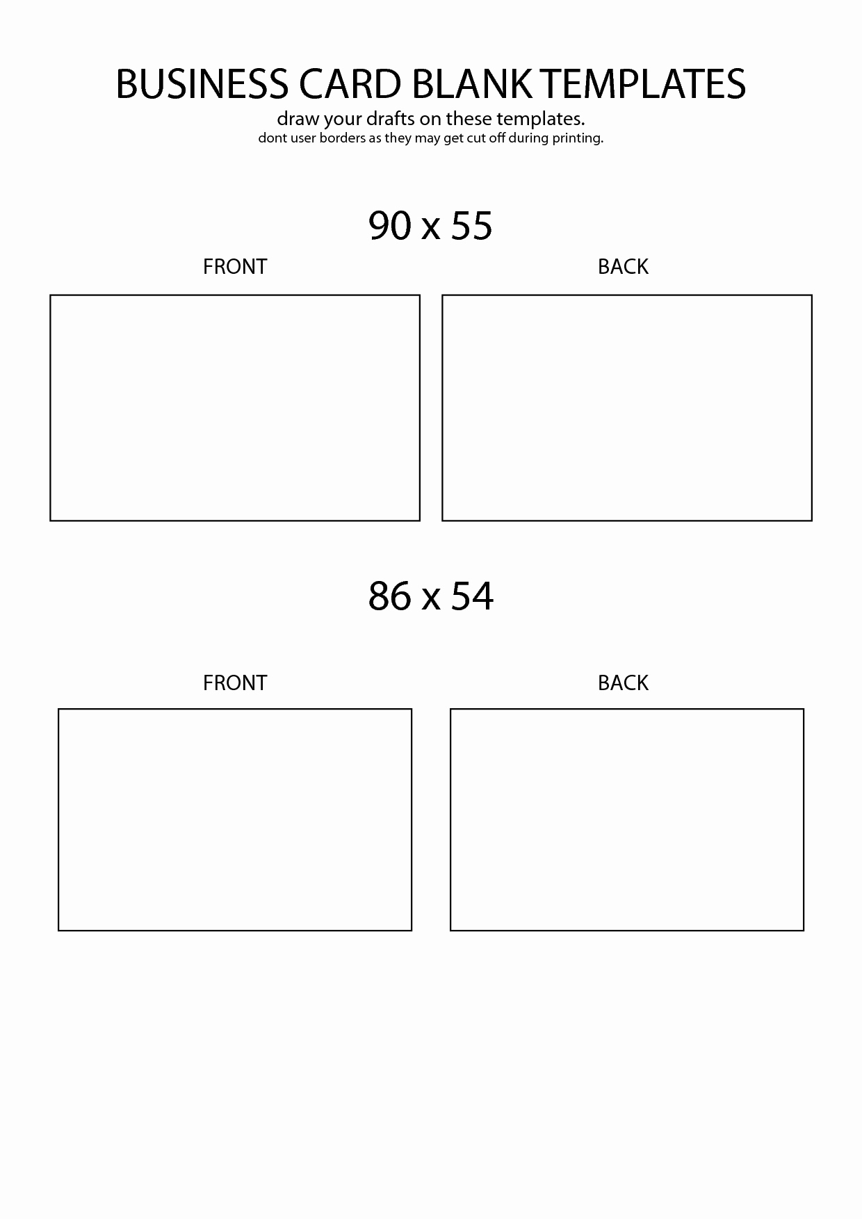 Business Card Template Free Printable Fresh Plain Business Cards