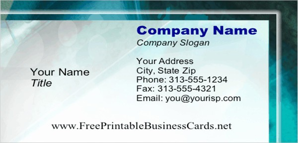 Business Card Template Free Printable Lovely Free Card Templates