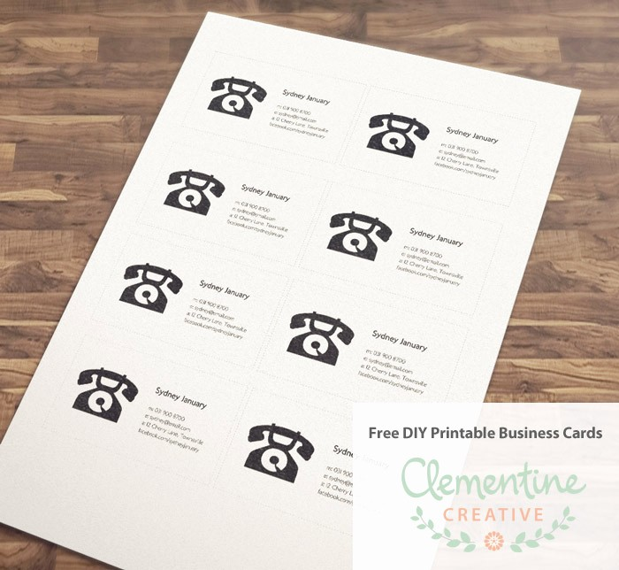 Business Card Template Free Printable Lovely Free Diy Printable Business Card Template