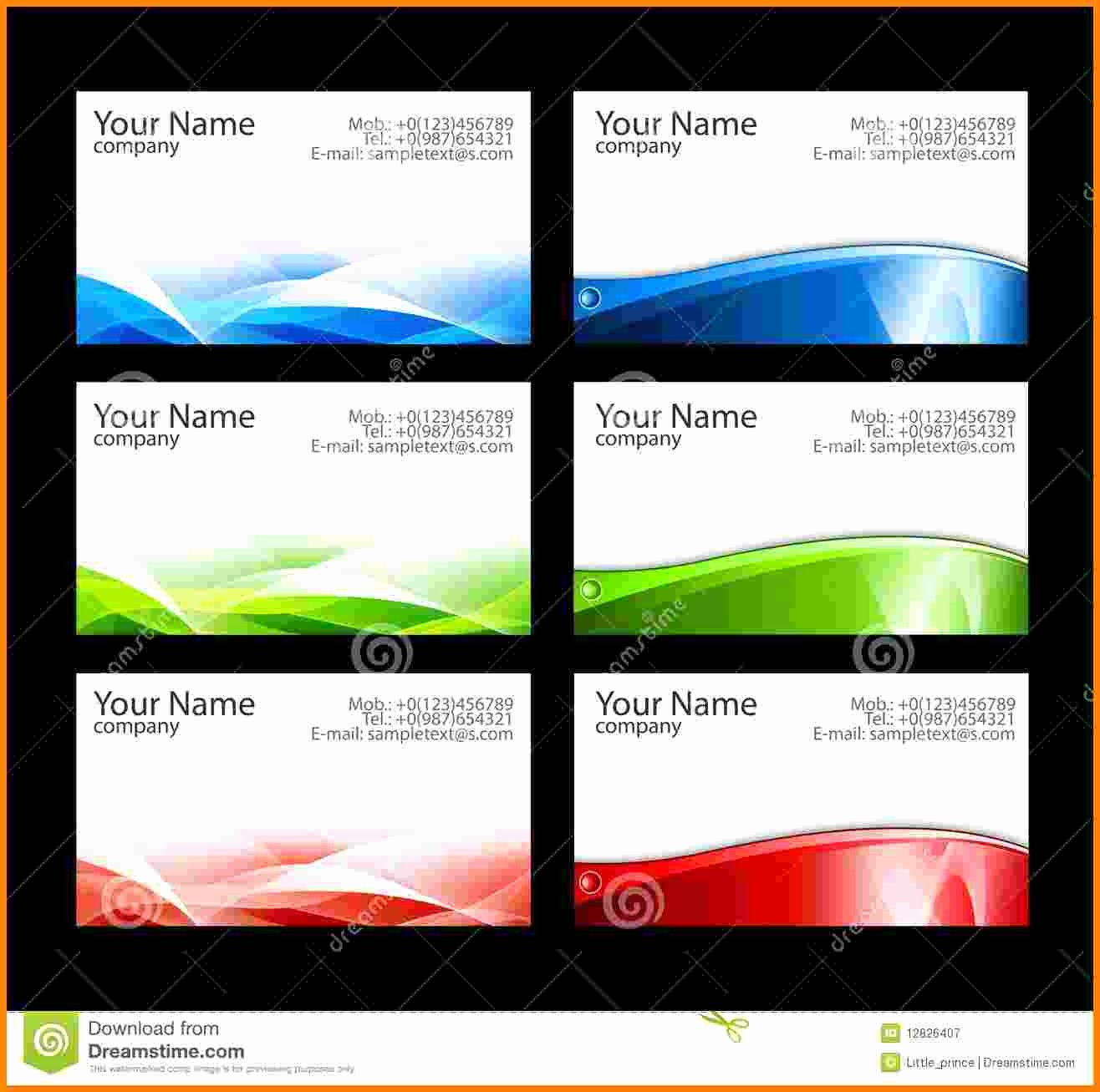 Business Card Template Free Word Beautiful 9 Blank Business Card Template Illustrator