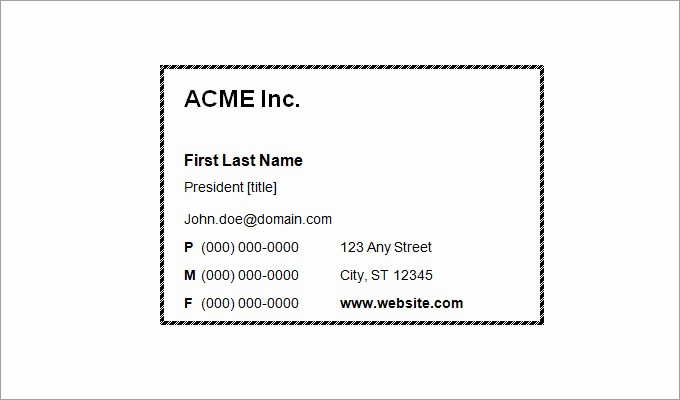 Business Card Template Free Word Luxury 44 Free Blank Business Card Templates Ai Word Psd