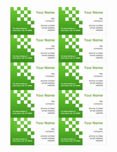 Business Card Template In Word Elegant Free Business Card Templates