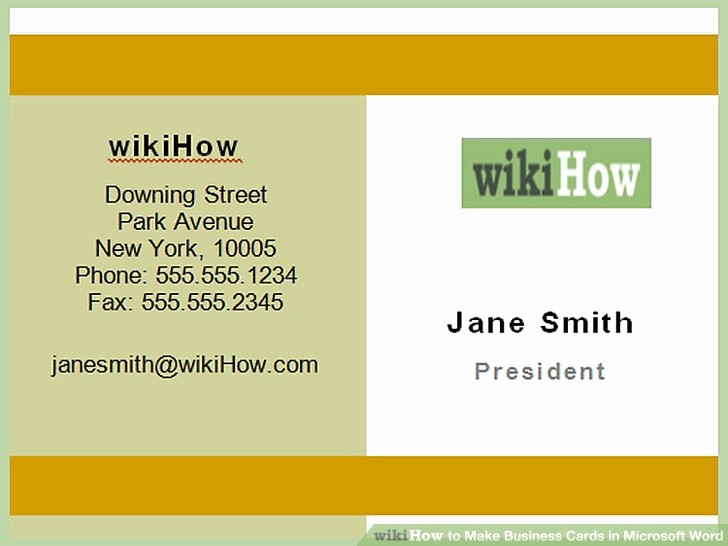 Business Card Template Word 2010 Best Of How to Make Business Cards In Microsoft Word with