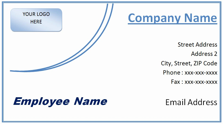 Business Card Template Word 2010 Inspirational Microsoft Fice Business Card Template Free Word and