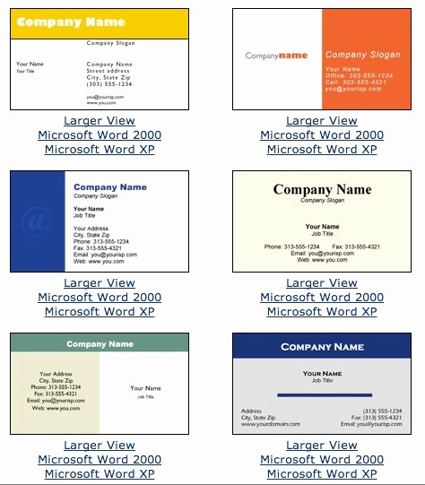 Business Card Template Word Doc Best Of Microsoft Word Business Card Template