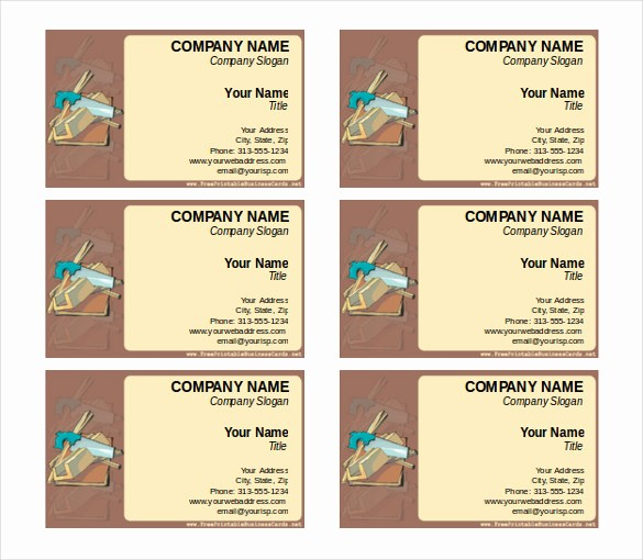 Business Card Template Word Doc Lovely 15 Word Business Card Templates Free Download