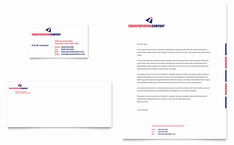 Business Card Template Word Doc Luxury Transportation Pany Business Card & Letterhead Template